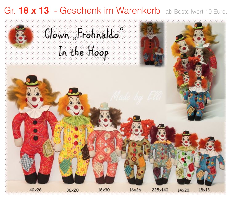 GIK Clown Frohnaldo 18x13