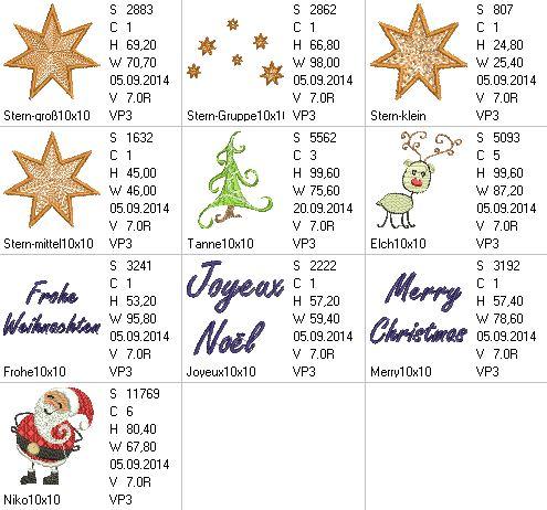 Weihnachtssticks 10x10