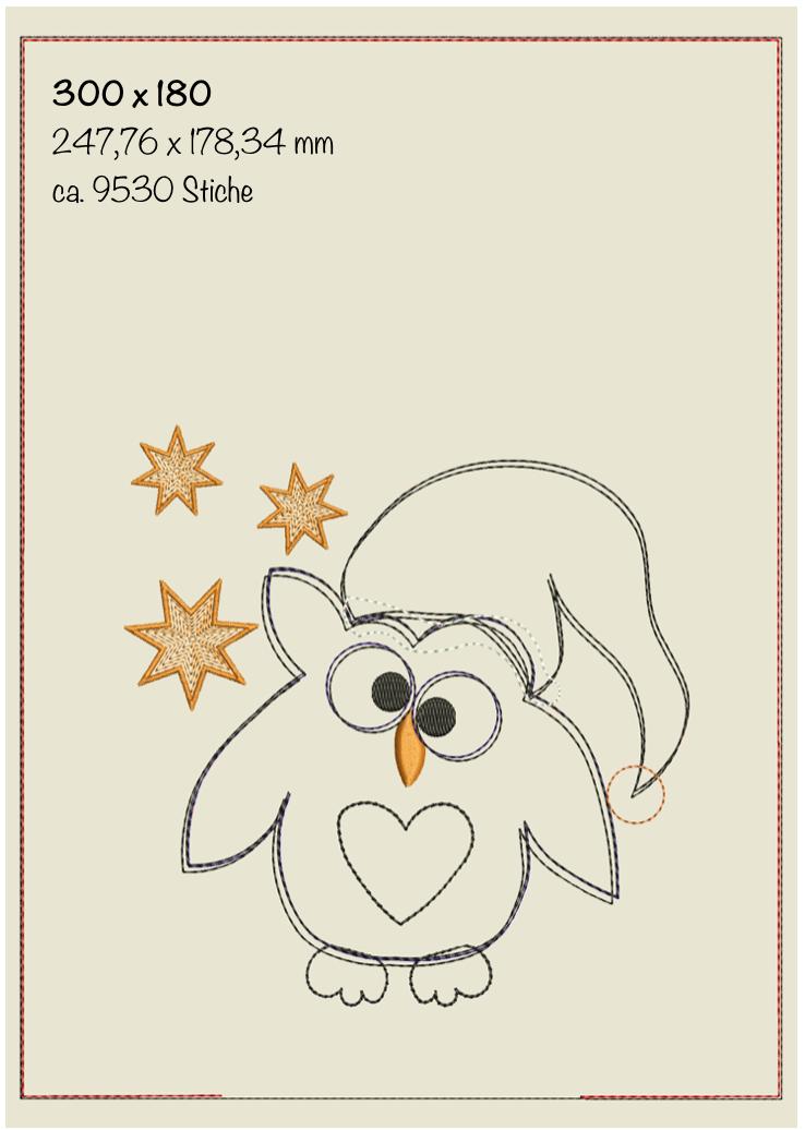 Dateimaße Weihnachts-Doodlesack ITH 30 x 18