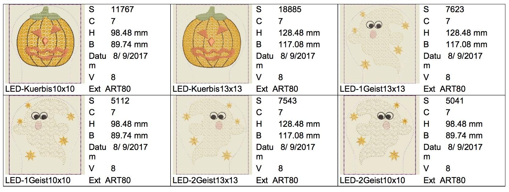 Dateimaße LED Helloween