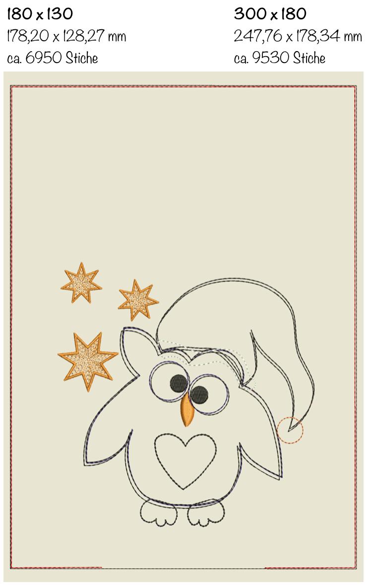 Dateimaße Weihnachts-Doodlesack ITH 18 x 13