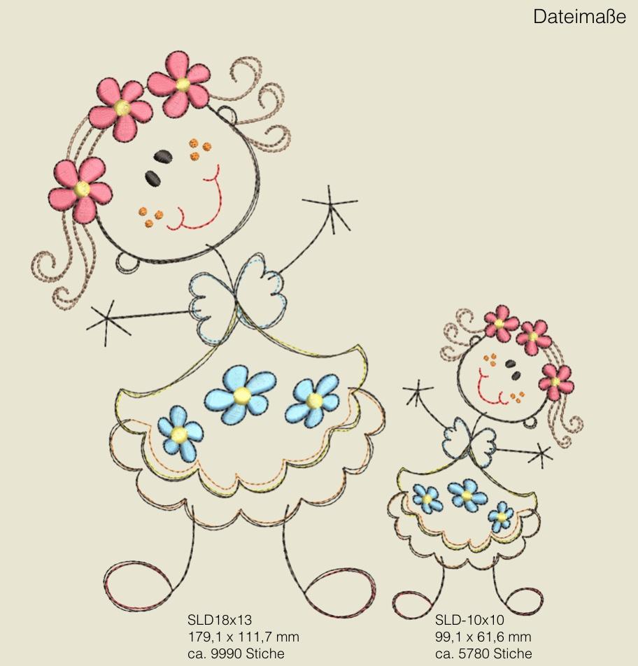 Dateimaße Sticky Lea Doodles