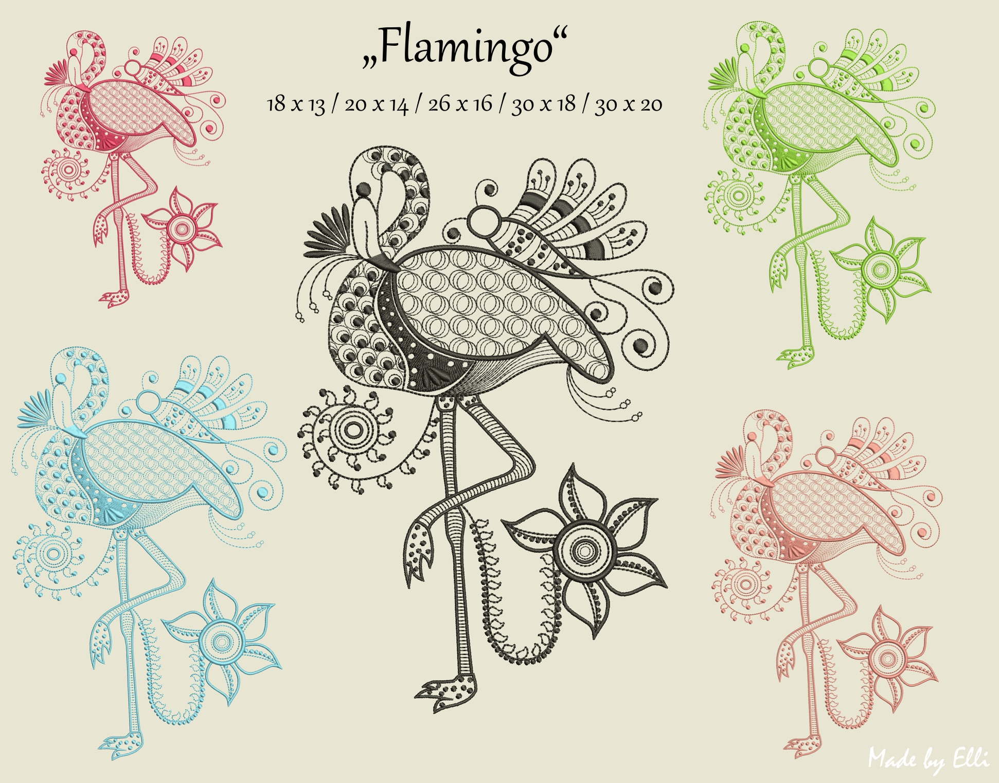 Rahmengrößen Flamingo