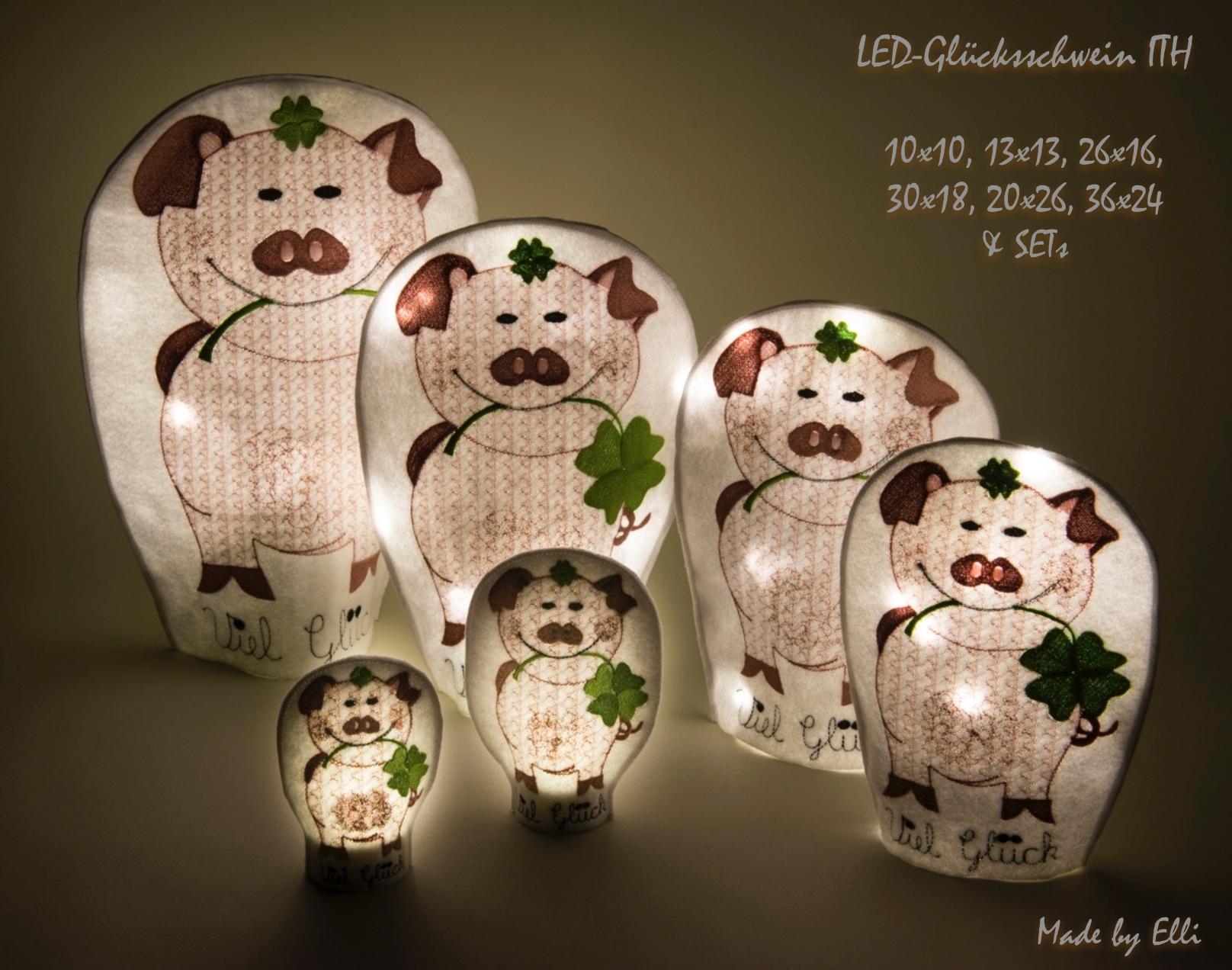 LED-Gluecksschweine