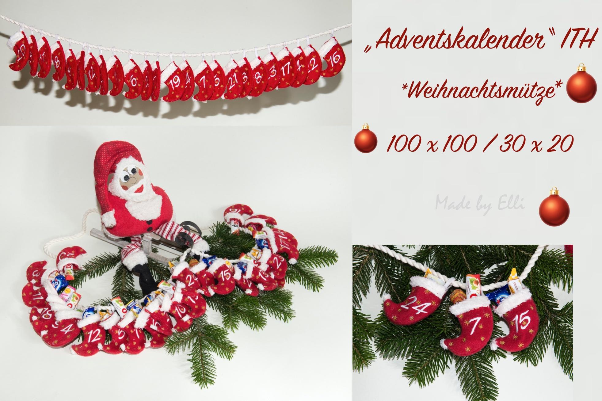 Adventskalender Weihnachtsmuetze ITH