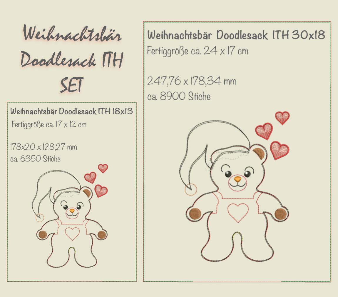 Weihnachtsbär Doodlesack-SET