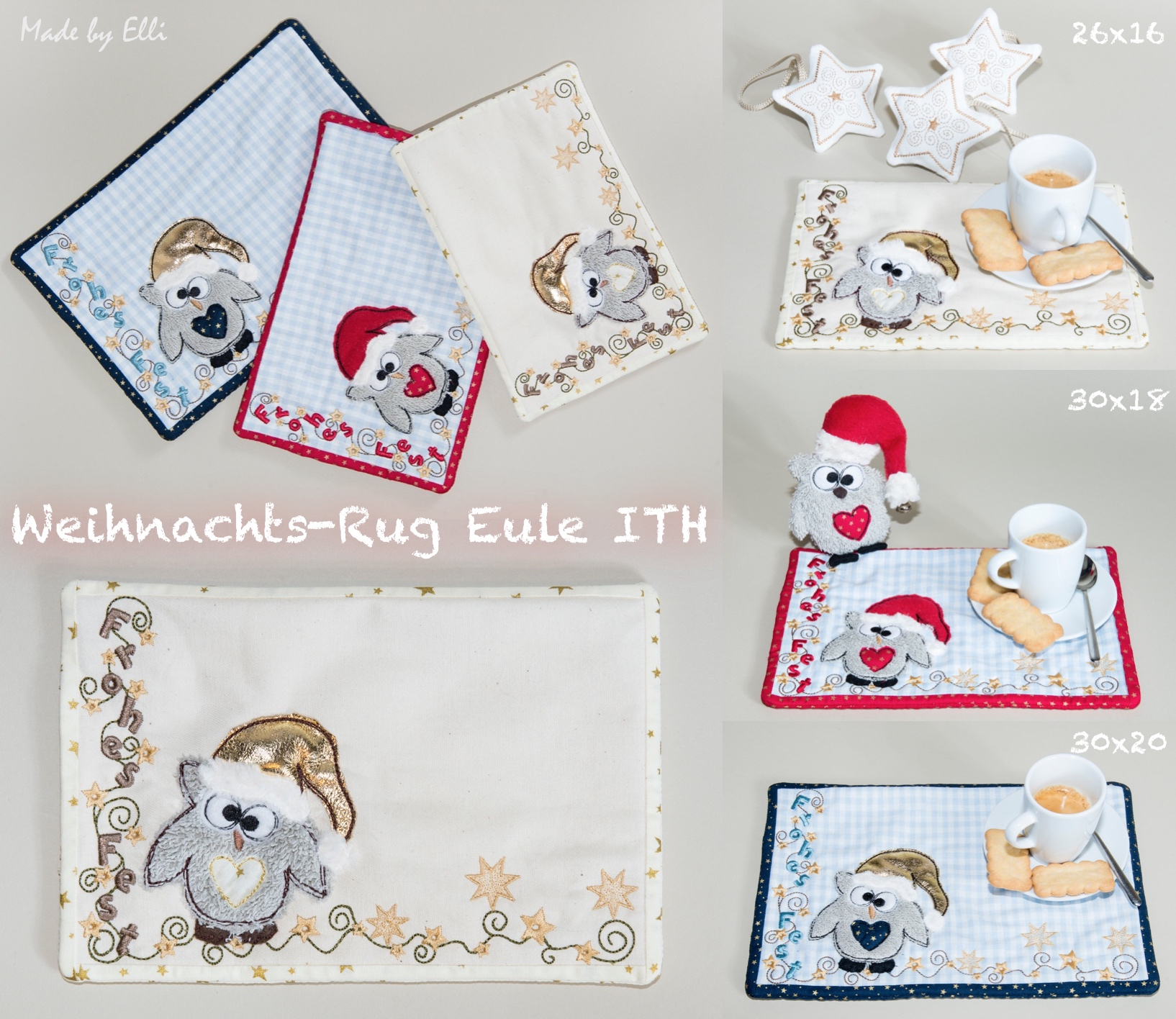 Weihnachts-Rug-Eule ith