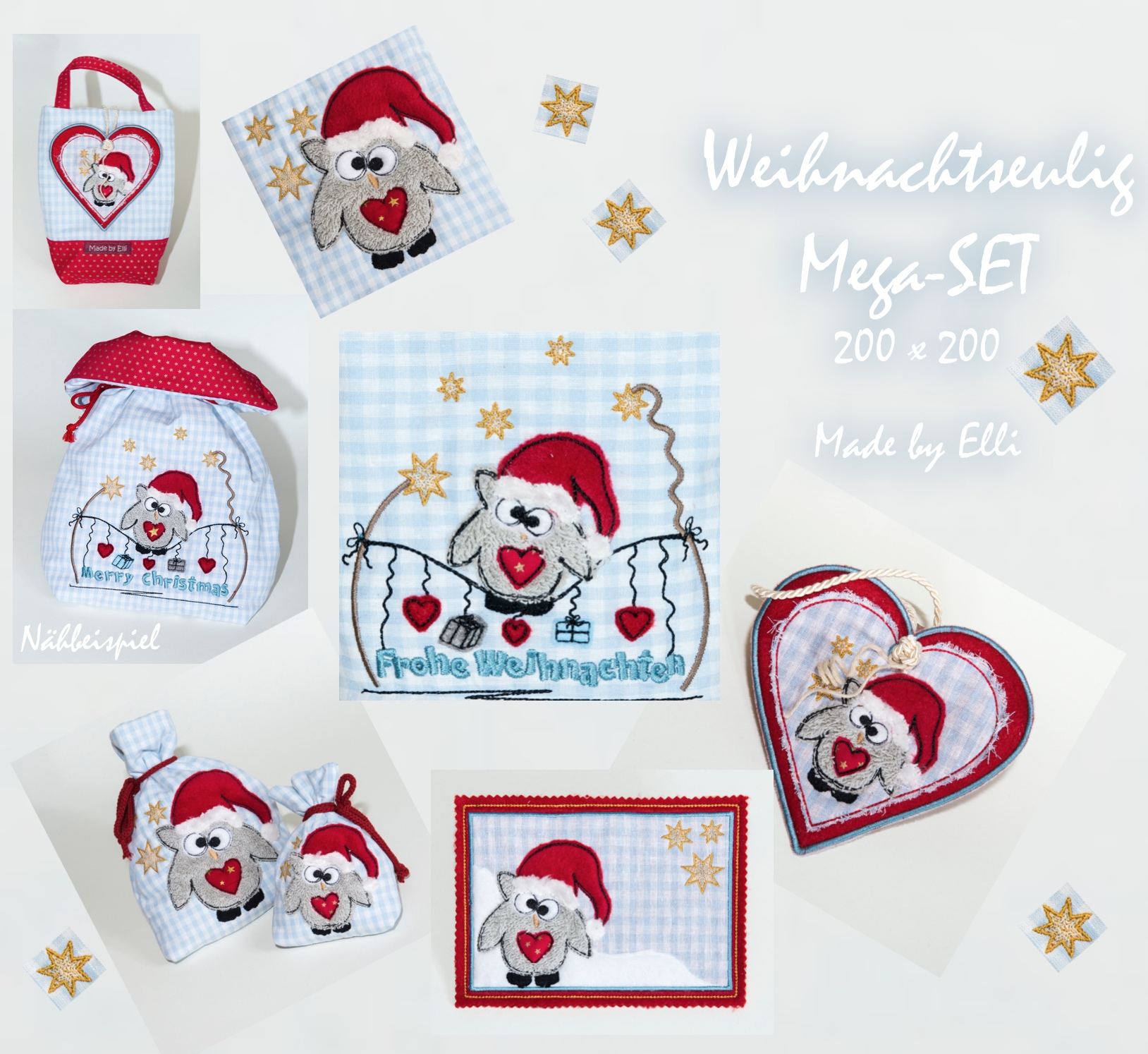 Weihnachtseulig Mega-SET20x20