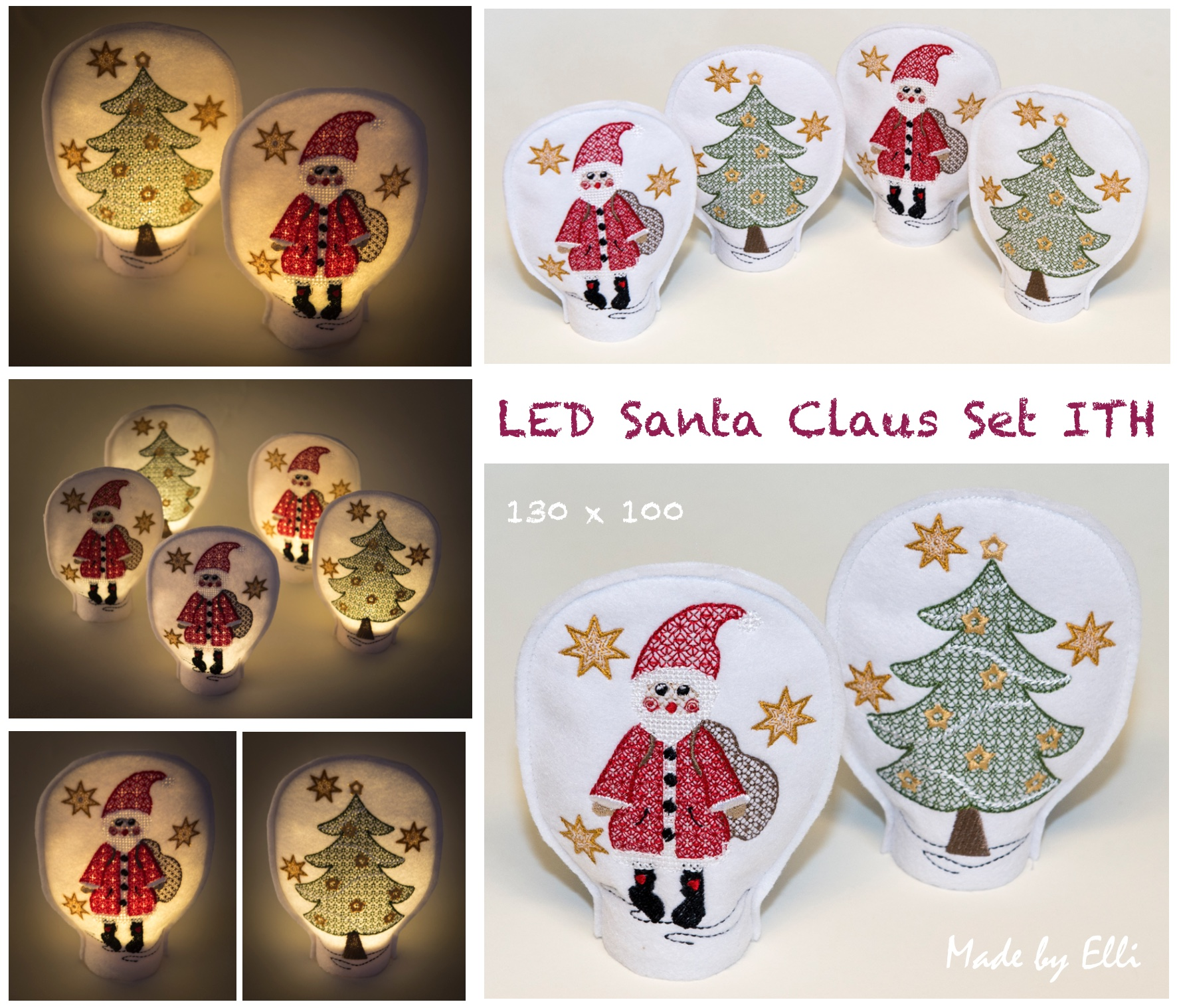 LED Santa Claus ITH SET