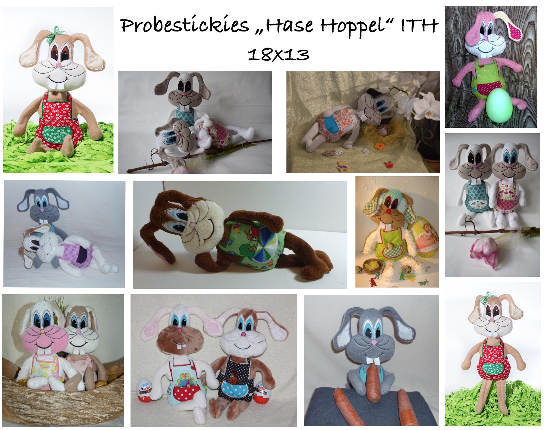 Probestickies Hase Hoppel