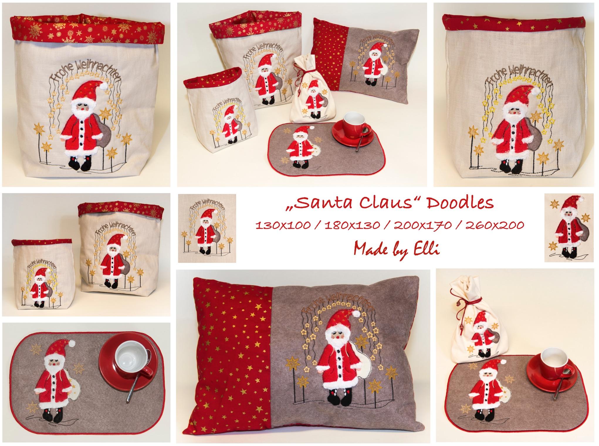 Santa Claus Doodles - Naehbeispiele