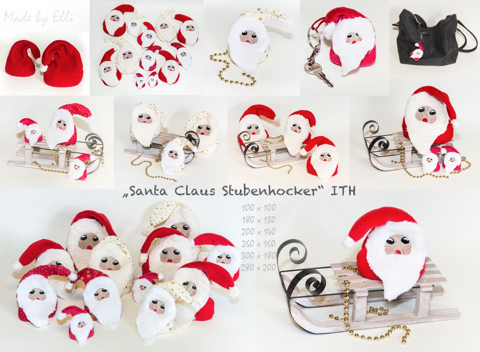 Santa Claus Stubenhocker ITH - Elli