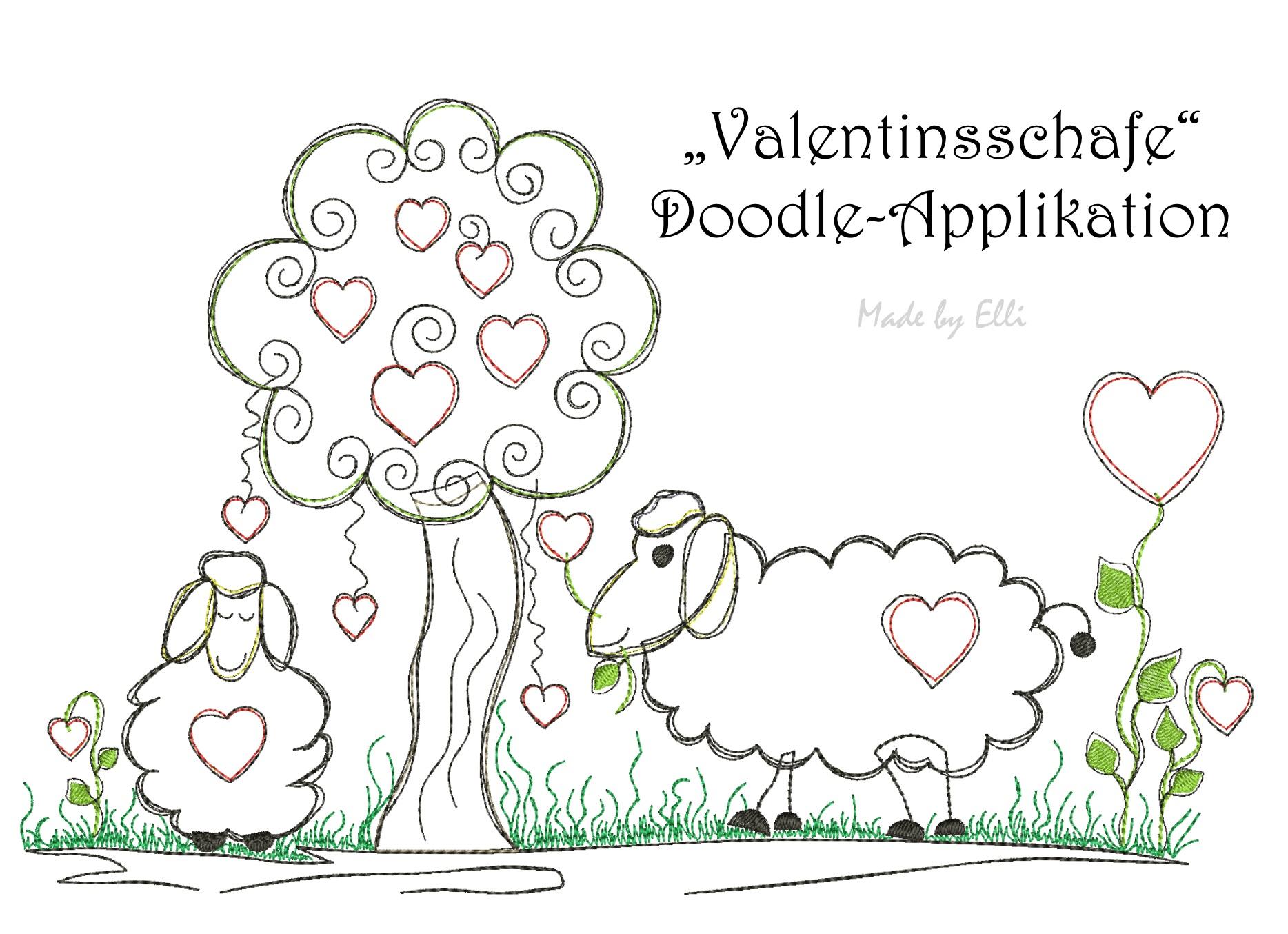 Valentinsschafe - Doodle-Applikation