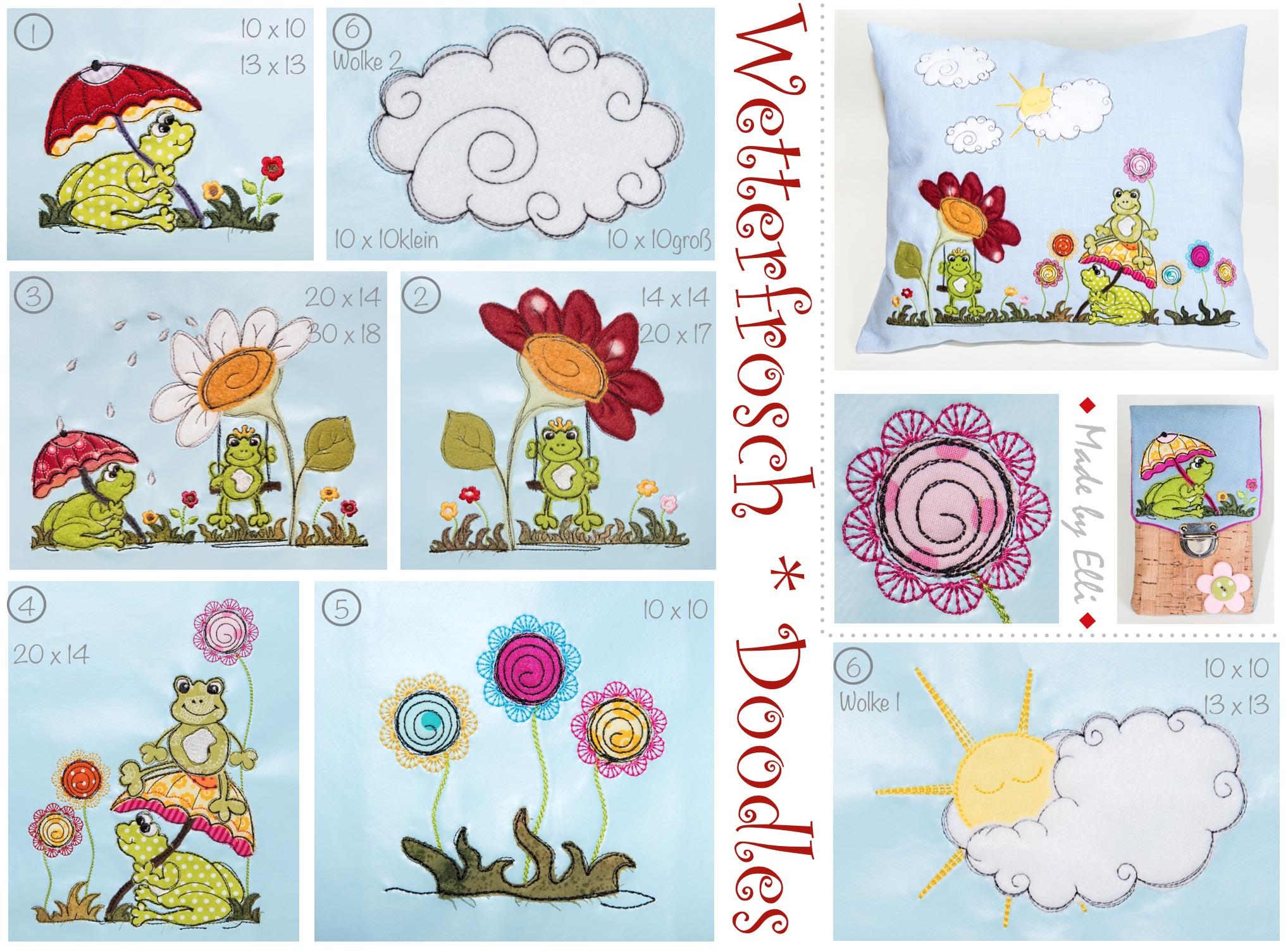 Wetterfrosch Doodles