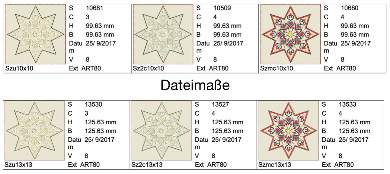 Dateimaße Kleiner Sternenzauber