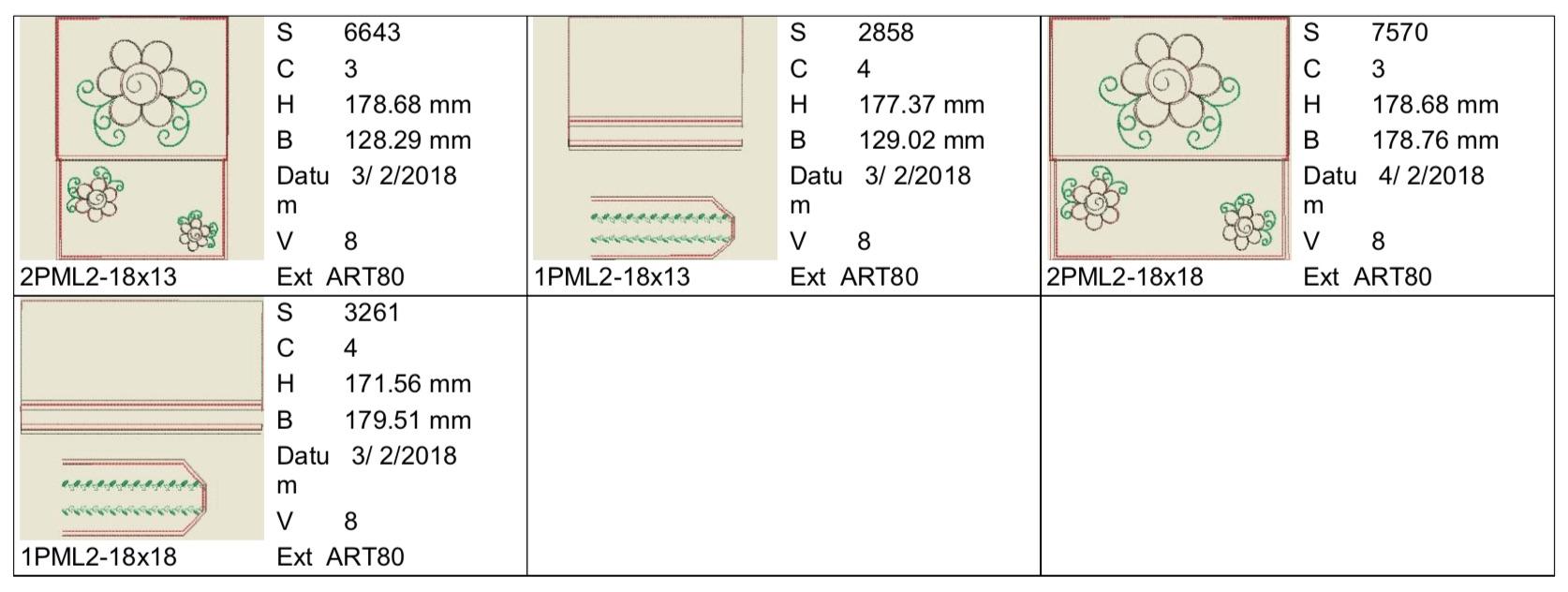 Dateimaße PML2