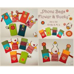 Phone Bag Flower-Ducky ITH