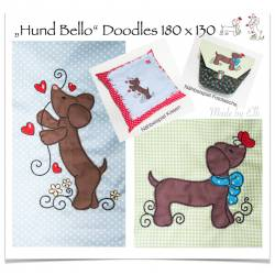 Hund Bello Doodles 18x13