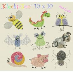 Klecks-Zoo 10x10