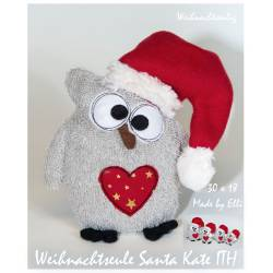 Weihnachtseule Kate ITH 30x18