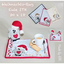 Weihnachts-Rug-Eule ITH 30x18