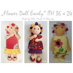 Flower Doll Emely ITH - 3 Dolls 36x24