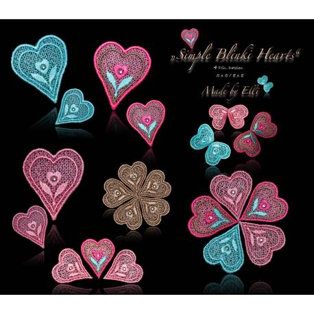 Stickdateien Simple Blinki Hearts bis 8 x 8